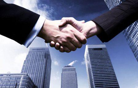 empresario exitoso trato empresarial